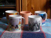 5 verschiedene Kaffeetassen