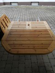 Ausziebarer Tisch Holz super schön