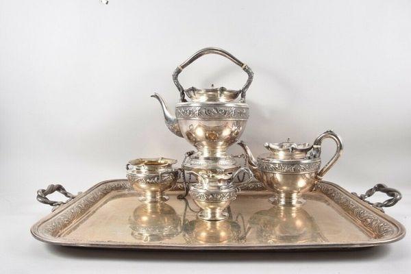 Sterling Silber Teeservice London 190102