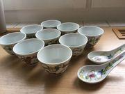 Chinesisches Teeservice lt beigefügter Fotos
