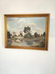 Gemälde Ölbild S Schreiner Haus