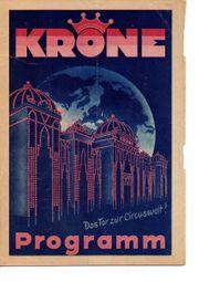 Programmheft Zirkus Krone 1935