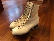 weiße Adidas Eislauf- Schlittschuhe Leder