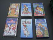 VHS Kassetten Märchen Disney und