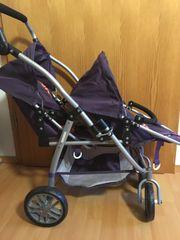 Zwillings-Puppenwagen