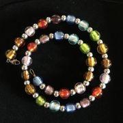 NEU Halskette multicolor Modeschmuck