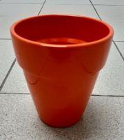 Blumentopf Übertopf orange Neu