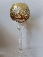 Bleikristallglas Dekor Nachtmann Nierstein bernsteinfarben