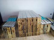 Palettenmöbel Tisch 2 Bänke