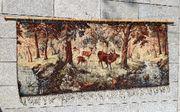 Antiker Wand Teppich mit Motiv