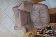 Leder-Couch günstig abzugeben