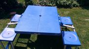 Camping - Tischset - Campingkoffer - Tisch inkl