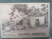 Postkarte von Hans Götzinger Straußhäuschen