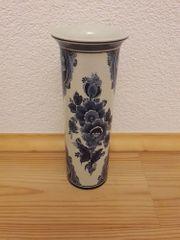 Blumenvase Delft blau handgemalt