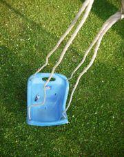 blaue Baby Kinderschaukel für den