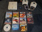 Dreamcast Konsole mit viel Zubehör