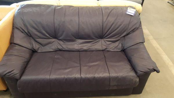 Couch Leder 2-Sitzer 160 lang gepflegt