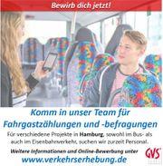 Nebenjob Minijob Fahrgastbefragung -zählung