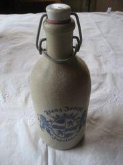 Steingut Bier Flasche Franz-Joseph Jubelbier