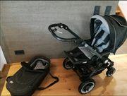 Teutonia Kinderwagen incl Fußsack und