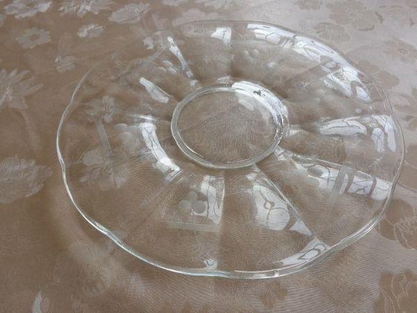 Vintage - Tortenplatte - Kuchenteller - Glas
