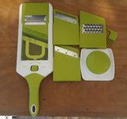 KING Küchenreibe-Set Slicer 4 verschiedene