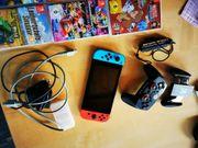 Nintendo Switch mit viel Zubehör