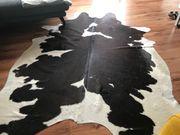 Kuhfell Teppich schwarz-weiss