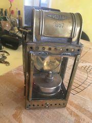 Karbitlaterne Messinglampe Petroliumlampe 1957 OSMEKA