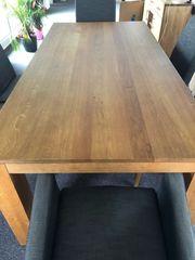 Holztisch massiv Eiche mit sechs