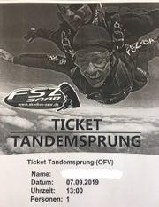 Ticket für Fallschirm-Tandemsprung Wallerfangen Saarland