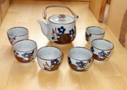 Asiatisches Teeservice Kanne mit 6