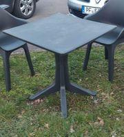 Balkonmöbel Tisch schwarz Gartenmöbel Gartentisch