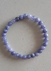 Lavendel-Jade Edelstein Perlenarmband