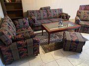 Stilmöbel Sitzgarnitur 3-2-1 Schemel Sitzgruppe