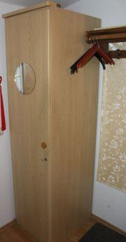 Hellbrauner Holz Putzmittelschrank Flurschrank