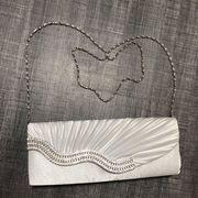 Abendtasche handtasche damen Geldbeutel weiß