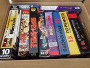 Kiste mit PC Spielesammlungen Retro