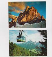 2 farbige Ansichtskarten aus den