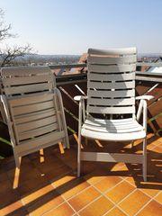 Rovergarden Brevettato klappbare weiße Gartenstühle