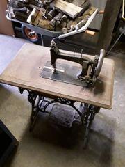 Alter Tisch Nähmaschine Nähmaschinentisch Gusseisen