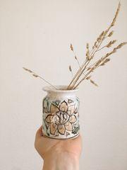 alte Vase Schiavon Keramik Vase
