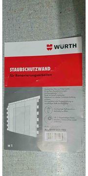 Würth Staubschutzwand mit Tür für