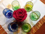 Kristall Cognac Gläser verschiedener Farbe