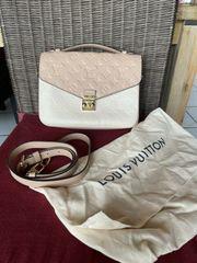 LVuitton pochette metis beige rose