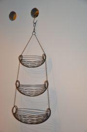 Etagère Hängeetagère Metall grau dekorativ