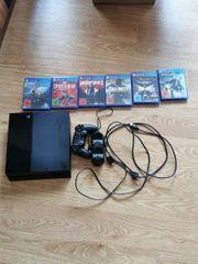 Playstation 4 mit den ganzen