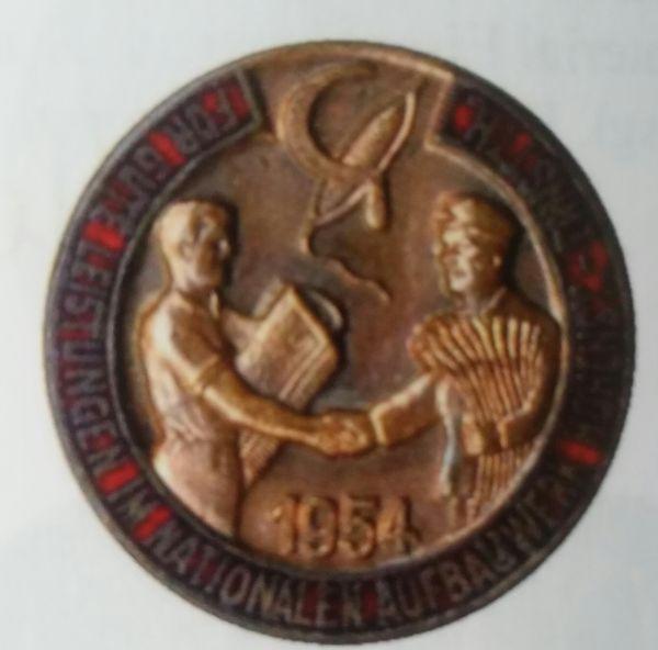 Abzeichen Hohenstein-Ernstthal des Nationalen Aufbauwerkes