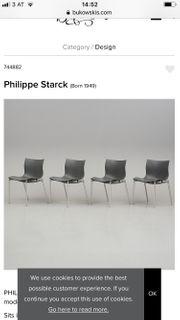 Vier Stühle Philippe Stark