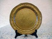 Bronzeteller Durchmesser 260 mm Gewicht